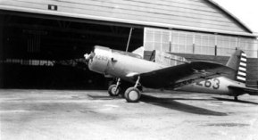 """The BT-15 training aircraft. As Gaston said, """"Boy, I really like to fly it too."""" He was an enthusiastic aviator. One interesting thing is that he routinely referred to the planes he flew as """"ships."""""""
