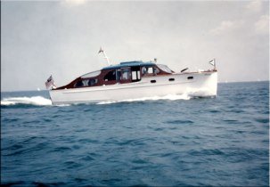 """The first was the Buena, named after his father's yacht and the part of Chicago he grew up in. (Spanish-speaking people are well aware of how """"buena"""" is supposed to be pronounced, but old Chicagoans pronounced it """"boo-ena."""") The family's first Chris-Craft, she was compact and thus far easier on the fuel than his father's larger steam yachts, which in part reflected the fact that she was Chet's yacht during World War II, with fuel rationing and all."""