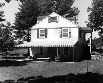 Cracker Box Manor in its glory, July 1953. Not terribly large, it did make for a nice summer getaway.