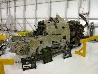 If the plane had been recovered it might look something like this one, fished out of the Pacific. In Gaston's case, however, the engine separated from the cockpit. This is also at the Tennessee Museum of Aviation.
