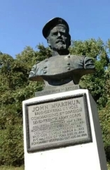 A monument to Gen. McArthur at Vicksburg, MS.