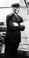 One of the nine crew members of the ship, Johannes Tieglund, the boatswain, in his dress uniform.