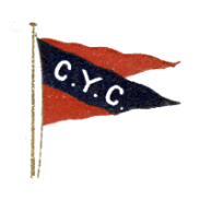 The old Chicago Yacht Club burgee, which it used until the merger with the Lincoln Park Yacht Club in 1920, at which point it adopted the Lincoln Park burgee