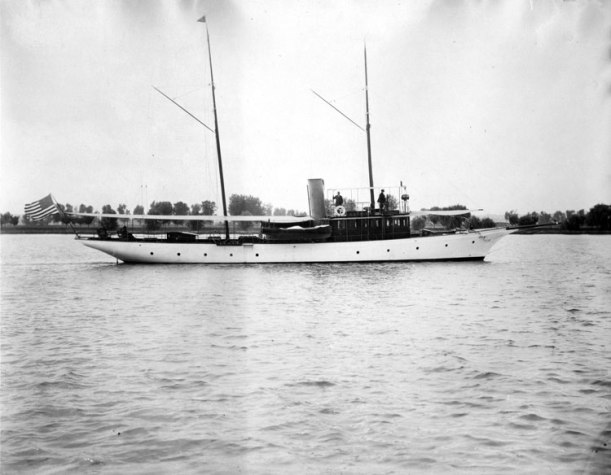 The Courier was the family's last steam yacht.