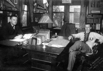 """Chet (at right) the college man, at Lehigh. He graduated in 1912, doubtless with a """"Gentlemen's C,"""" which he exemplified. But his achievements showed that academic prowess isn't the """"end-all"""" in life."""