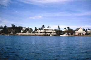Hope Town harbour, 1965.