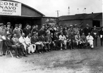 The contestants line up for a final briefing and a photograph.