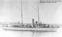 "The Steam Yacht Thistle, George Warrington's ""flagship."" Photo from the Historical Collections of the Great Lakes, Bowing Green State University."