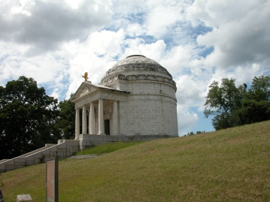 The Illinois State Rotunda at Vicksburg. Each state--Union and Confederate--with forces at Vicksburg had the chance to place a state monument, and Illinois' is the largest.