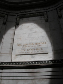John McArthur's name memorialised in the Rotunda.