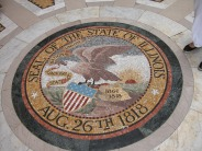 The state seal, in the floor.