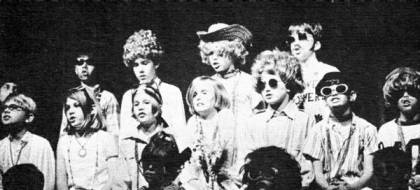 """There's a hole in my bucket…"" Fourth graders at Palm Beach Day School perform a satire on ""hillbillies"" called ""Appalachian Legend"" during Stunt Night 1969. Attitudes from the ""coasts"" about ""flyover country"" in the U.S. have been deep seated for a long time; stage productions like this only reinforced that. It's fair to say that, if the ""Religious Right"" had fully grasped the contempt they were held in when the movement first got going in the late 1970's they would not have started the Moral Majority: they would have started a revolution."