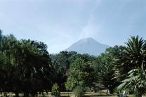 The Water Volcano, which is near Antigua Guatemala, from my parents' original trip. Volcanoes and earthquakes are a fact of life in Guatemala, and have moulded its history and people.